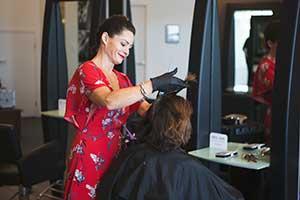 Hair services cut, treatment and colour design
